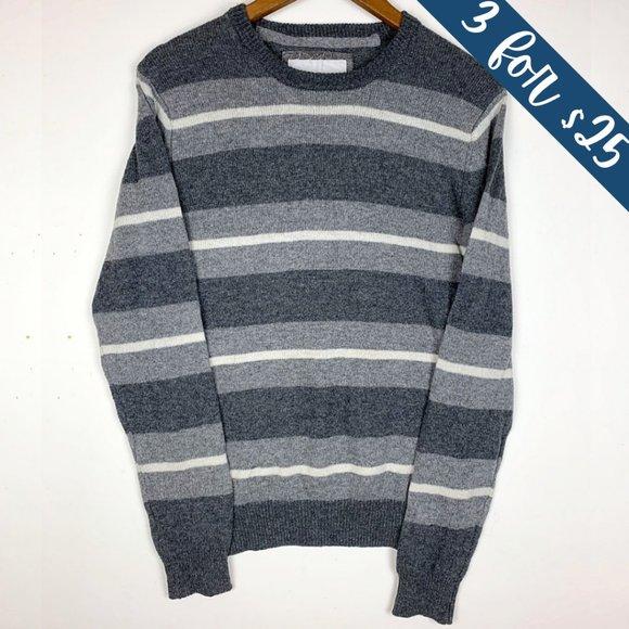 3/$25 Aeropostale Grey Striped Wool Blend Sweater